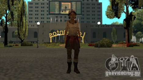 Clementine from The Walking Dead - season 3 для GTA San Andreas второй скриншот