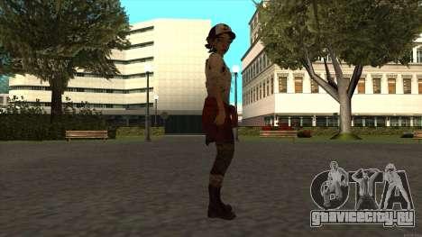 Clementine from The Walking Dead - season 3 для GTA San Andreas третий скриншот