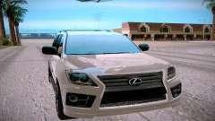 Lexus LX570 серебристый для GTA San Andreas