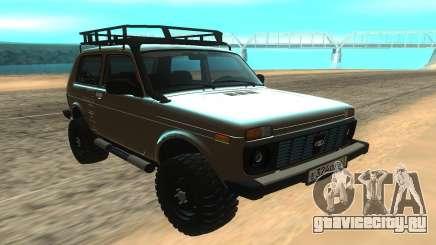Нива 2121 серебристый для GTA San Andreas
