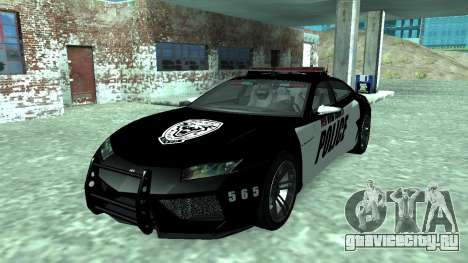Lamborghini Estoque Concept NFS Police Custom для GTA San Andreas