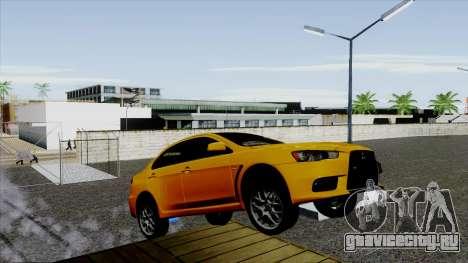 Mitsubishi Lancer Evo X Full Tunable для GTA San Andreas