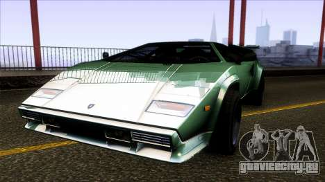 Lamborghini Countach Extra Wide Wheels для GTA San Andreas