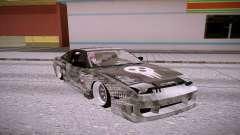 Nissan 240SX серебристый для GTA San Andreas