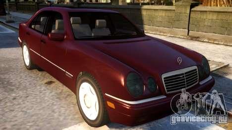 Mercedes-Benz E420 для GTA 4 вид изнутри