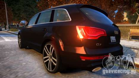 Audi Q7 V12 TDI 2009 Baku Style (fix parameters) для GTA 4 вид сзади слева