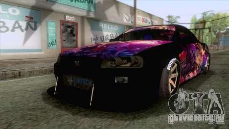 Nissan Skyline R34 Itasha Kanzaki Ran для GTA San Andreas