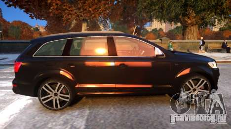 Audi Q7 V12 TDI 2009 Baku Style (fix parameters) для GTA 4 вид сзади