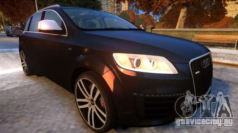 Audi Q7 V12 TDI 2009 Baku Style (fix parameters) для GTA 4 вид изнутри