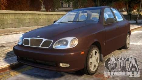 Daewoo Lanos Sedan SX US 1999 для GTA 4