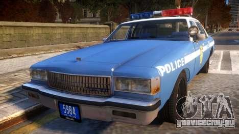 1985 Chevrolet Caprice NYPD Police для GTA 4