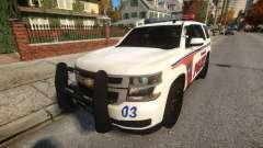 Chevy Tahoe police для GTA 4