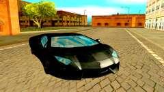 Lamborghini Aventador чёрный для GTA San Andreas