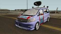 Newsvan NTBTV для GTA San Andreas