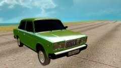 ВАЗ 2107 зелёный для GTA San Andreas