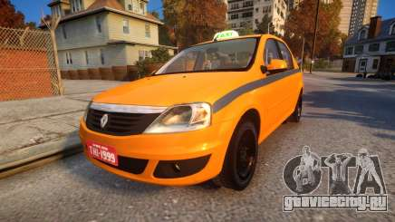 Renault Logan 2013 Taxi Do Rio De Janeiro для GTA 4