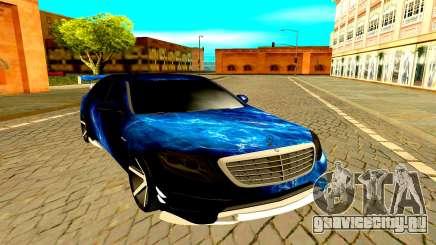 Mercedes-Benz W222 чёрный для GTA San Andreas