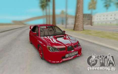 Subaru Impreza STI Red для GTA San Andreas