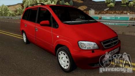 Opel Zafira Diesel для GTA San Andreas вид изнутри