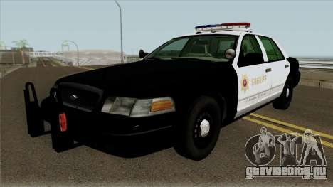 Ford Crown Victoria Police Interceptor (SASD) v1 для GTA San Andreas