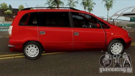 Opel Zafira Diesel для GTA San Andreas вид сзади