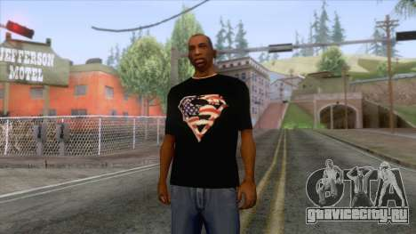 Black Superman USA T-Shirt для GTA San Andreas