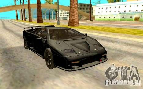 Lamborghini Diablo SV Black для GTA San Andreas