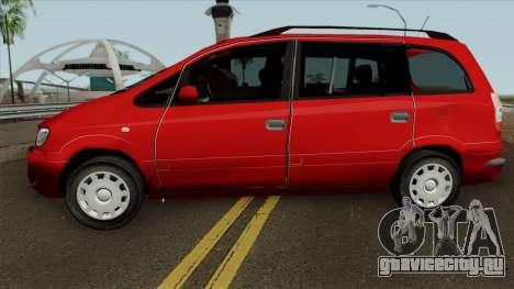 Opel Zafira Diesel для GTA San Andreas вид слева