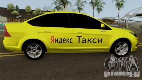 Ford Focus 2 Sedan 2009 Yandex Taxi для GTA San Andreas вид сзади