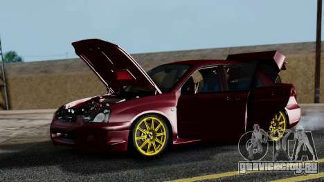 Subaru Impreza WRX STI 2004 для GTA San Andreas вид изнутри