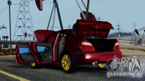 Subaru Impreza WRX STI 2004 для GTA San Andreas вид сбоку