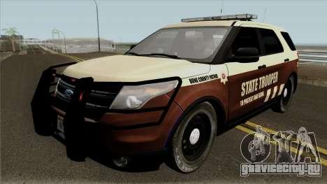 Ford Explorer 2012 Bone County Police для GTA San Andreas