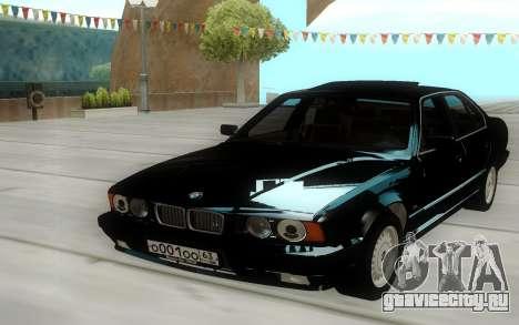 BMW 525i E34 Black для GTA San Andreas