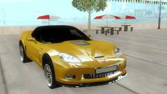 Chevrolet Corvette Yellow HQ для GTA San Andreas