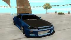 Nissan Skyline R34 Coupe для GTA San Andreas