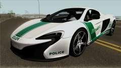 McLaren 650S Spyder Dubai Police v1.0 для GTA San Andreas