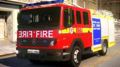 London Fire Brigade Atego Fire Appliance для GTA 4