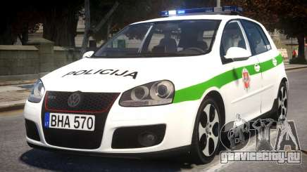 Volkswagen Golf 5 GTI Lithuanian Police для GTA 4