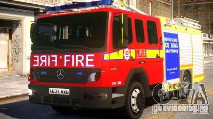 London Fire Brigade Atego Fire Appliance для GTA 4
