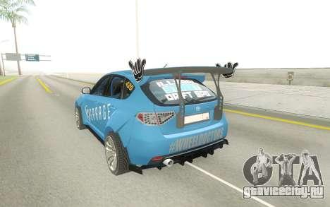 Subaru Impreza WRX STi Type RA Spec C для GTA San Andreas