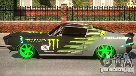 Shelby GT500 69 Monster для GTA 4 вид слева