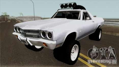 Chevrolet El Camino SS Rusty Rebel 1970 для GTA San Andreas