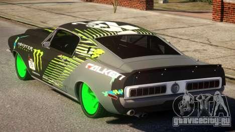 Shelby GT500 69 Monster для GTA 4 вид сзади слева