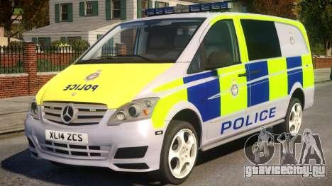 Mercedes-Benz Vito Police V.1.2 для GTA 4