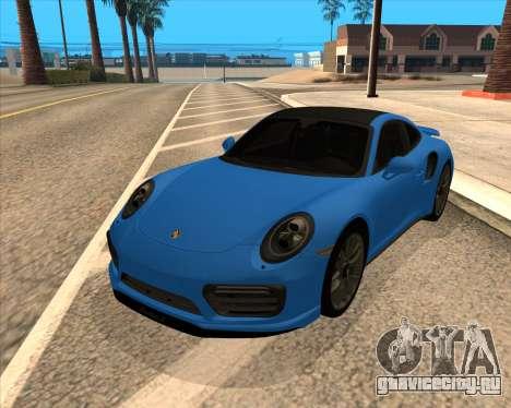 Porsche 911 Turbo S Blue для GTA San Andreas