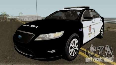 Ford Taurus LAPD 2011 для GTA San Andreas