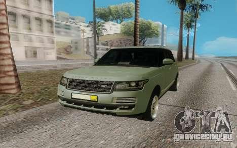 Land Rover Range Rover для GTA San Andreas