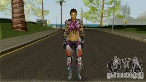 Skin Maven from Ghost in The Shell (with a face) для GTA San Andreas