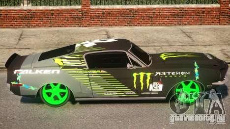 Shelby GT500 69 Monster для GTA 4 вид сзади