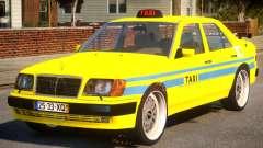 Mercedes E500 Taxi Portugal для GTA 4
